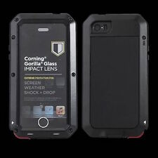 WATERPROOF SHOCKPROOF ALUMINUM METAL GORILLA GLASS CASE FOR iPHONE 4 5 6 7 8 X