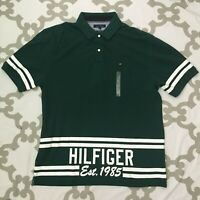 Tommy Hilfiger Mens Short Sleeve Classic Fit Green Polo Shirt NEW