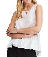 Free People Womens Tops Purple Size Medium M Knit Tie-Dyed Peplum $58 204
