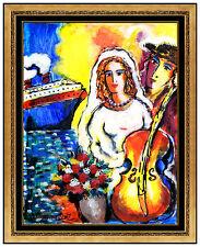 Zamy Steynovitz Original Oil Painting On Canvas Signed Portrait Seascape Artwork