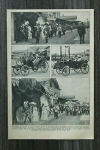 AD) Blatt Fürstentage Wien 1907 Kaiser Franz Joseph Wilhelm II  Maria Annunziata