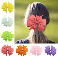 Baby Girl Headband Ribbon Hair Clip Bowknot  Women Hair Band Hairwrap Clip New