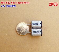 2pcs Micro N20 Motor 3.7V~4.2V 32000RPM High speed Carbon Brush DIY Drone Parts