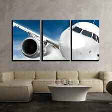 """Wall26 - Fast Airplane in the Sky - Canvas Art Wall Decor - 24""""x36""""x3 Panels"""