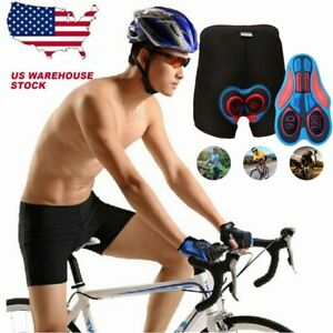 Adult Cycling Shorts Thick Bicycle Bike Underwear Pants Compression Gel 5D Pad