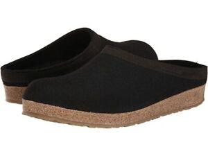 Haflinger 713001 GZL42 Clog Slipper Smokey Black Size 41 EU/ 10 US (M)