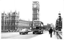 BR95794 london autobus big ben real photo car  double decker bus  uk