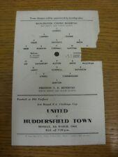 26/02/1963 Manchester United Reserves v Preston North End Reserves [Single A5 Pa