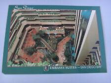 Postcard: Embassy Suites Hotel Atrium - San Diego Bay, California CA - Unused