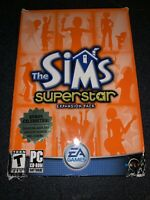 The Sims superstar Expansion Pack in the *RARE* Large Retail box for PC and GAME