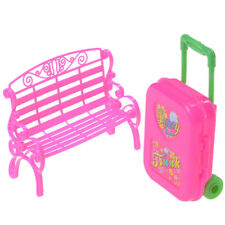 1Set Baby Girl Chair Sofa With Luggage Box For Barbie Doll's House Furniture BDA