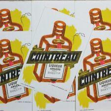 Papier Buvard Cointreau Liqueur Digestif Épicerie Ancienne Illustration Pub 1960