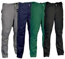 Hombre Cofra Albañiles Trabajo Rodillera Calidad Pantalones Cargo Negro
