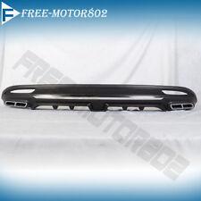 Fits:Hyundai 11-14 TF SONATA Black Rear Bumper Diffuser Lip Spoiler Bodykits 2.4