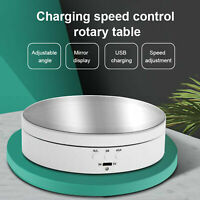 360 Degree Electric Rotating Turntable Display Stand For Photography Video US