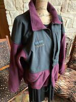 Columbia Titanium Women's Large (L) Purple Fleece Zip up