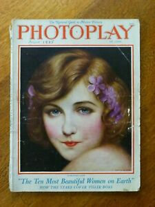 Photoplay magazine August 1925 - Dorothy Gish cover by Charles Sheldon