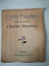 POUR PSYCHE : CHARLES MAURRAS