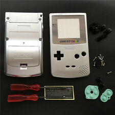 Silver Lens & Silver Housing Shell Case For Game Boy Color GBC Gameboy Color