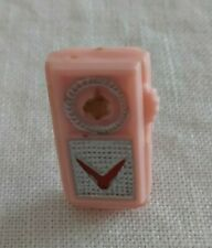 Vtg 1960'S Barbie Pink Transistor Radio With Working Stand - Free Us Shipping