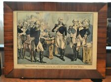 """Rare N. Currier """"Washington Taking Leave Of The Officers Of His Army"""" Circa 1848"""
