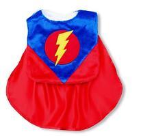 Mud Pie Baby Boys Super Hero Caped Bib Lightning Bolt Applique Hook Loop Closure