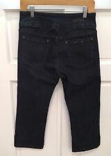 Ethyl Classic Women's Size 6 Dark Wash Pull on Cropped Capri Jeans NWOT