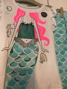 M&S girls mermaid pyjamas age 5-6 years BNWT