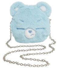 Loungefly Care Bears Grumpy Bear Face Plush Crossbody Bag Purse Adorable Gift
