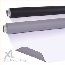 2m x 4m DUO Double Pack - Grey+White, White+Black Vinyl Photographic Backgrounds