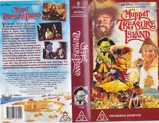 JIM HENSON~MUPPET TREASURE ISLAND  VHS VIDEO PAL~ A RARE FIND~