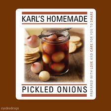 12x Pickled Onions Stickers Labels Homemade Hamper Garden Personalised-N365