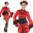 Ladies Sexy Geisha Girl Fancy Dress Costume Japanese Oriental Outfit UK 8-30