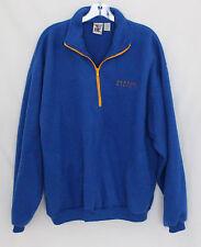 Newport Blue Soft Fleece Quarter Zip Warm Up  Jacket Size-Lg  NWOT