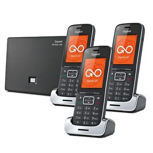 Gigaset SL450A GO Premium Cordless Phone with Answer Machine 3 Handsets