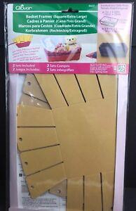 Clover Basket Making Frames Square Extra Large #8427 Contains 2 Sets USA Seller