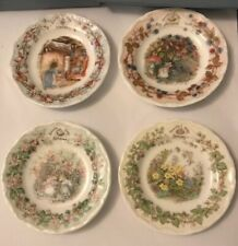 Royal Doulton Brambly Hedge Spring, Summer, Autumn and Winter (4 Small Plates)