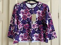 LAURA ASHLEY light Floral Cardigan 3/4 sleeve - Size UK 20 - BRAND NEW with tag