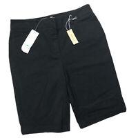 New JONES NEW YORK SPORTS Size 8 Black Stretch Bermuda Shorts NWT $44 32x12
