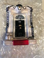 BOMBKI GLASS 10 DOWNING STREET CHRISTMAS TREE BAUBLE DECORATION NEW & BOXED