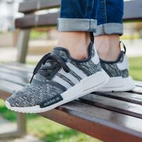⭐ Adidas NMD R1 8 UK Men's Trainers Gym BY3035 Black White Camo Run Shoes BOOST