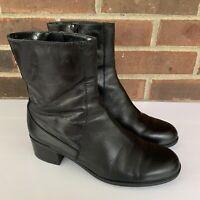 Bandolino Carlessa black leather ankle boots Women's Size US 6.5 M