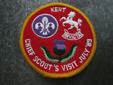 Chief Scout Kent '89 Cloth Patch Badge Boy Scouts Scouting (L7K)