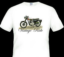 Vintage 1962 BSA Rocket Gold Star Motor Bike White Tshirt S M L 2xl 3xl 4xl 5xl