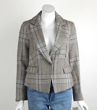 Free People Chess Blazer Jacket Tweed Notch Lapel Single Button Front XS New