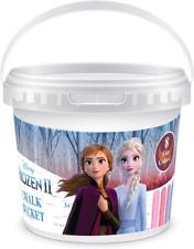 Frozen 2 Outdoor Sidewalk Chalk Set for Kids with Stencils, Bucket and Decals