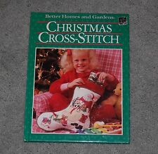 Better Homes and Gardens Christmas Cross-Stitch HardBack Book - FREE SHIPPING