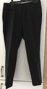 Womens Trousers Black 16 Tailored Fit Smart Wear
