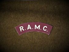 R.A.M.C reproduction printed badges WWII for Battledress