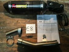 KAWASAKI ZX6R ZX-636 AKRAPOVIC CARBON Exhaust Can Silencer Link Pipe 2009-2019